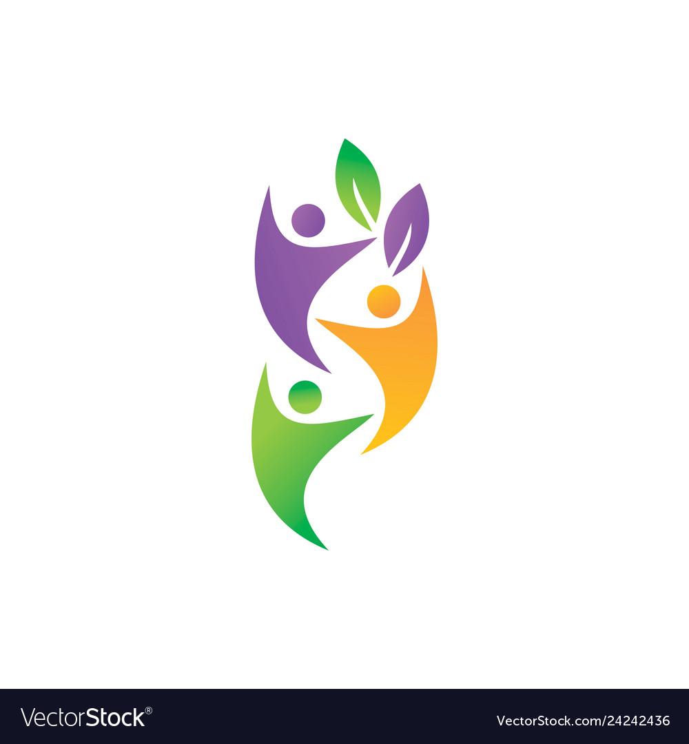 Leaf logo design template set