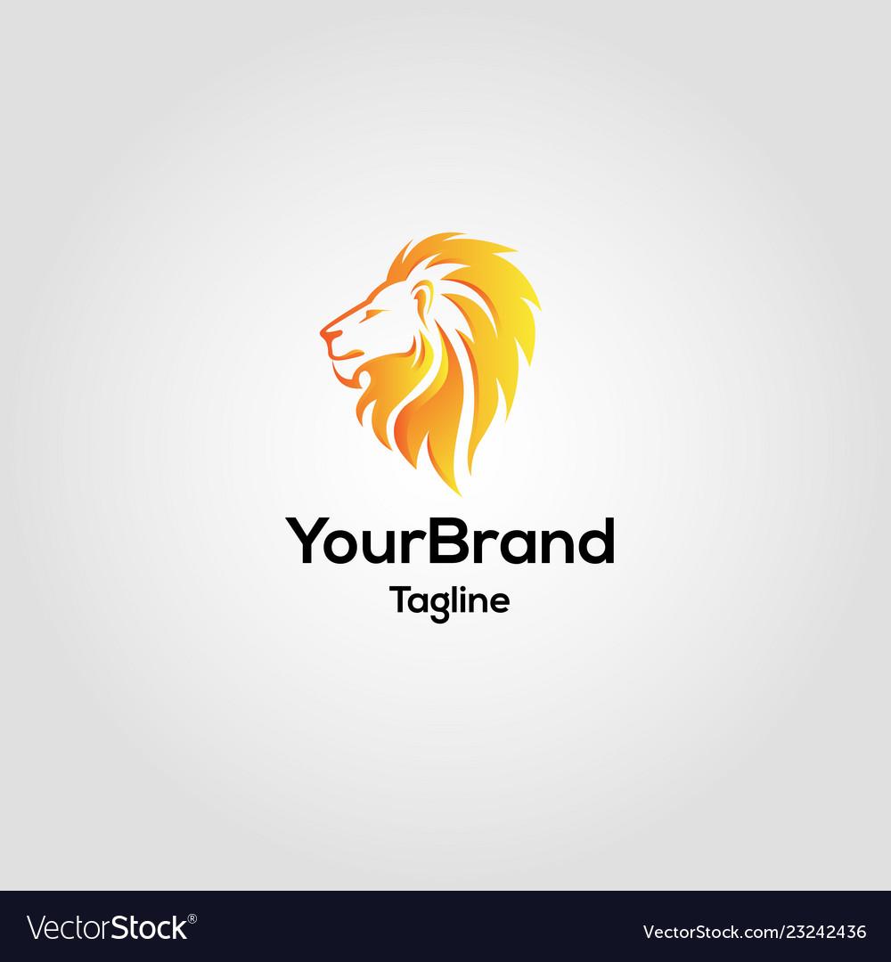 Modern lion logo template