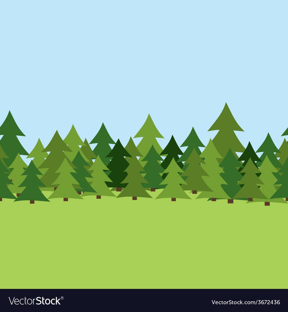 Seamless Pine Forest Summer