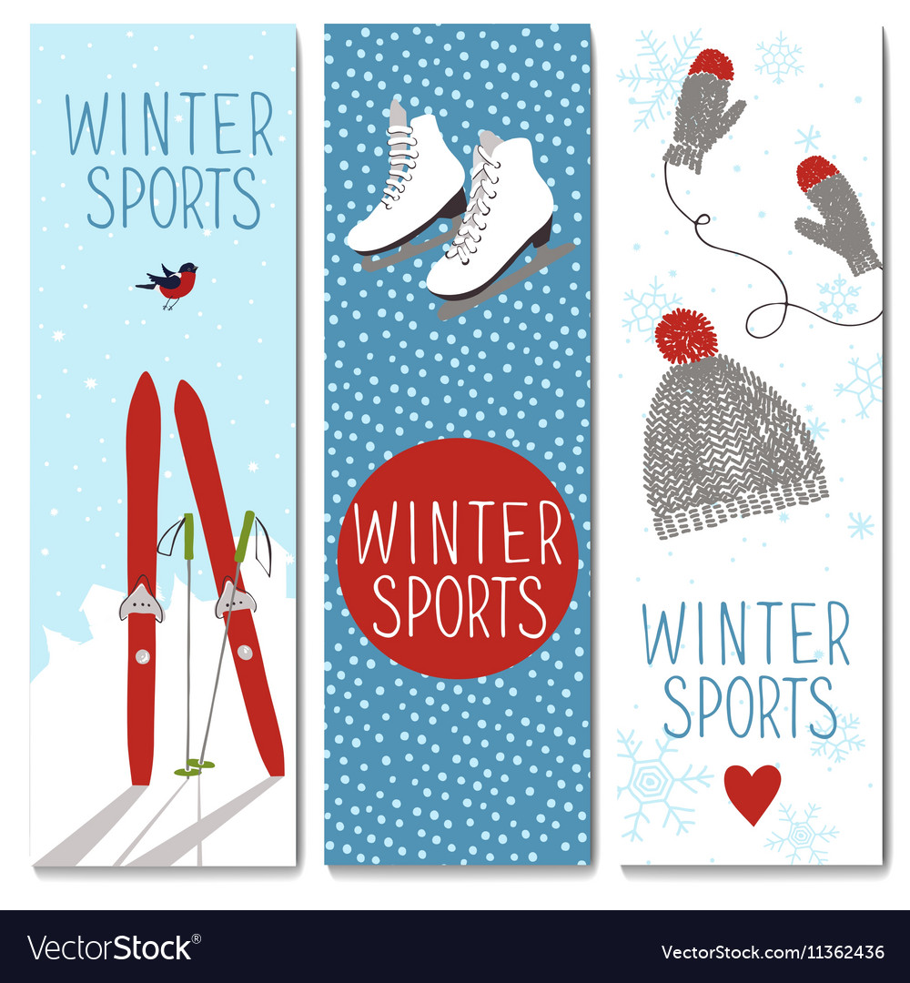 Set of 3 lovely winter cards templates