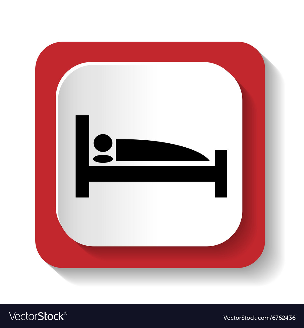 Sign with a picture of a bed vector image