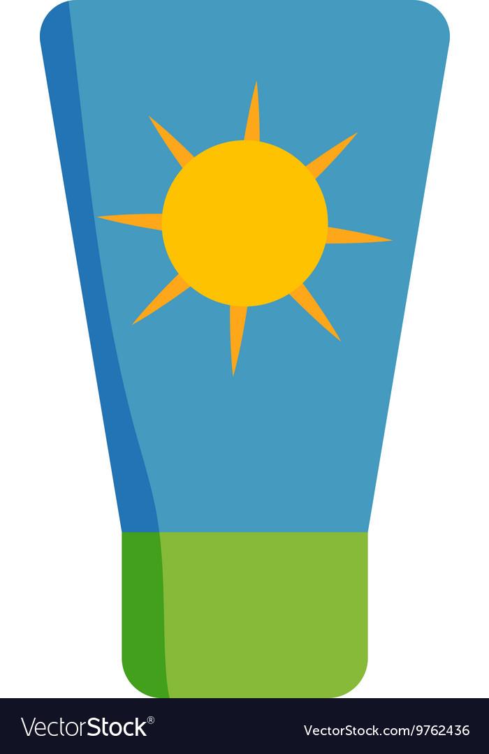 Sunscreen cream icon