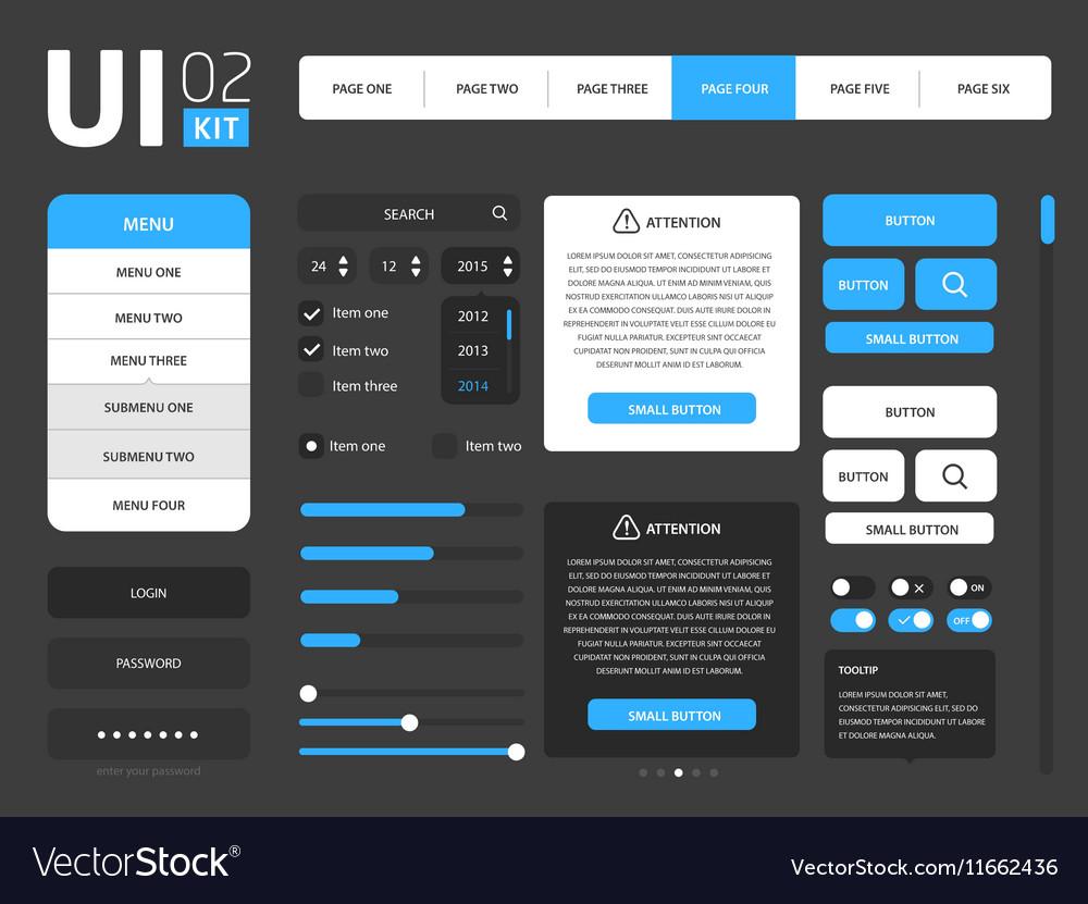 UI template vector image