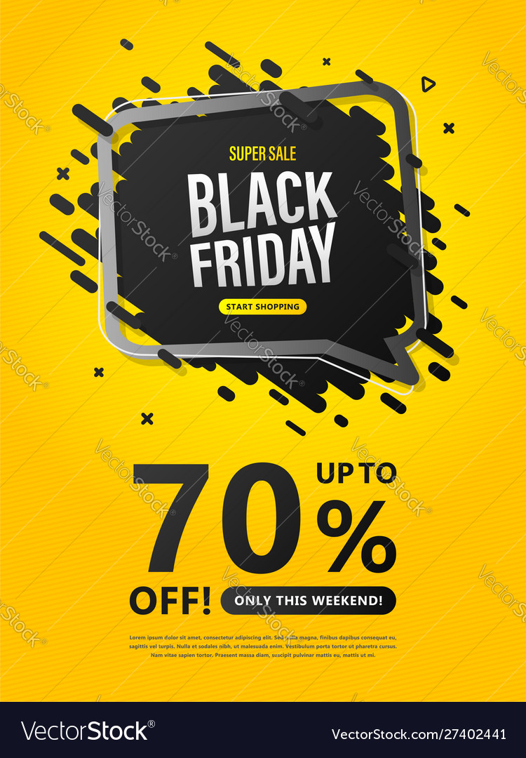 Black friday sale flyer colorful discount poster