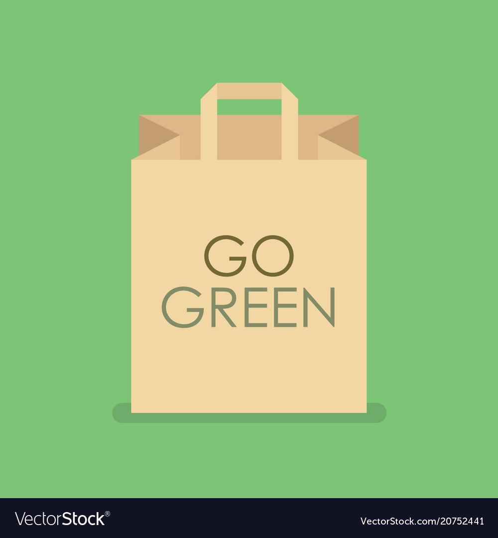Eco Friendly Shopping Bag Vector Image