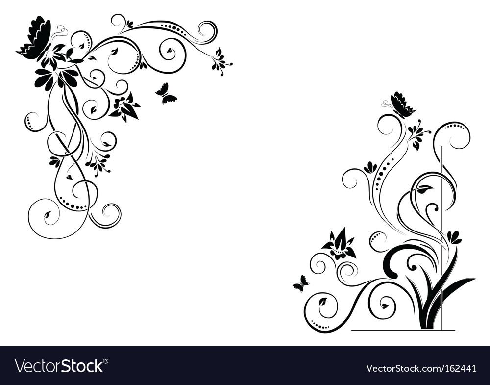 Vector Clip  Free Download on Floral Borders Vector 162441   By Ghenadie