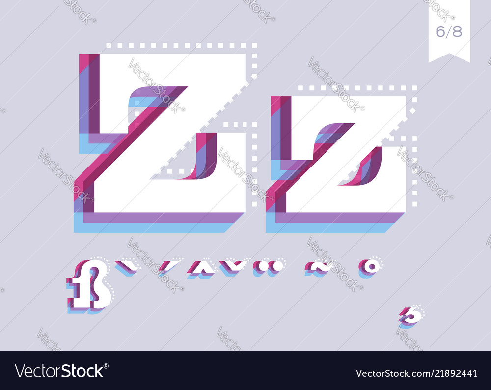 Font design creative poster typeface abstract