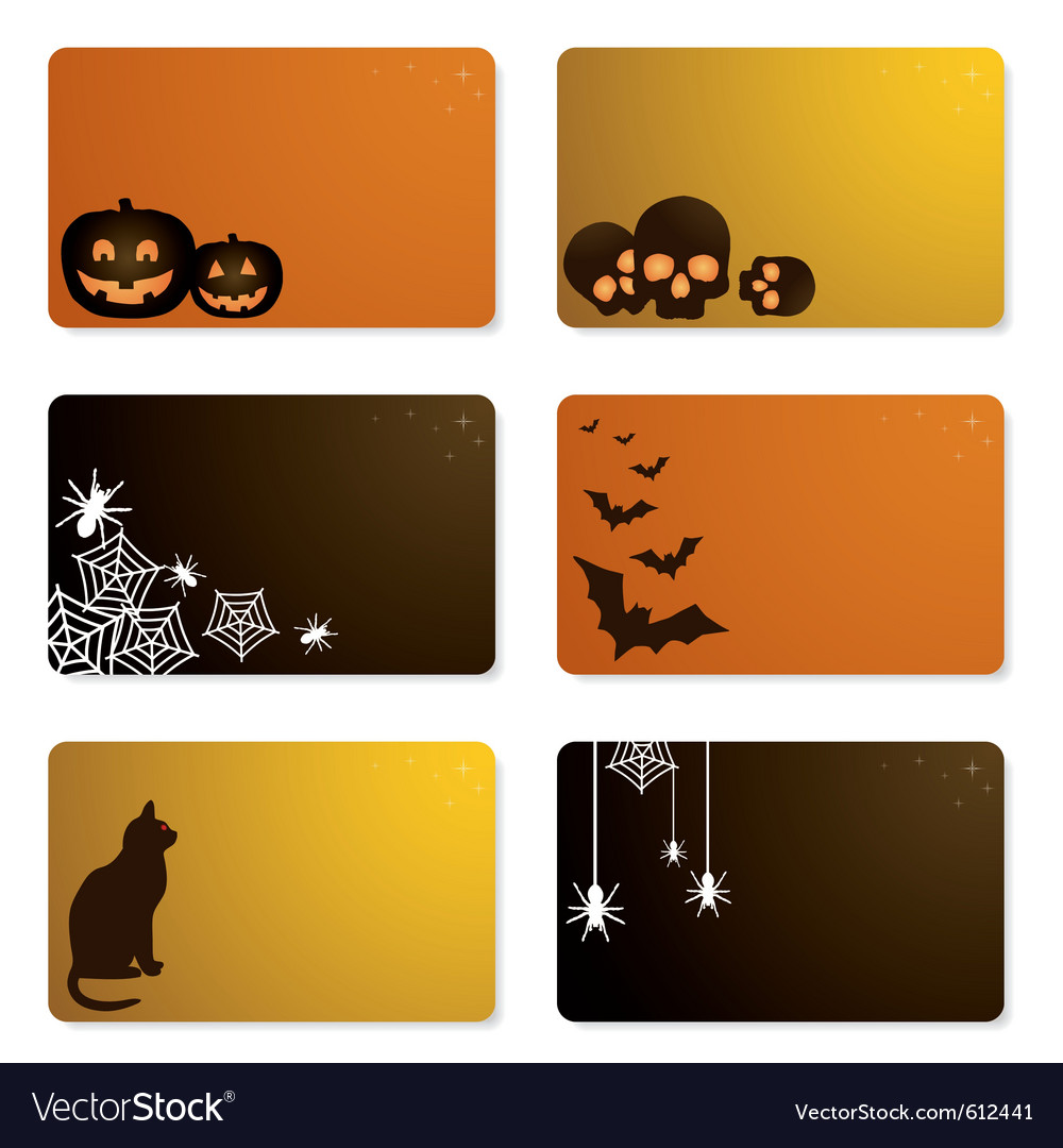 halloween gift cards royalty free vector image