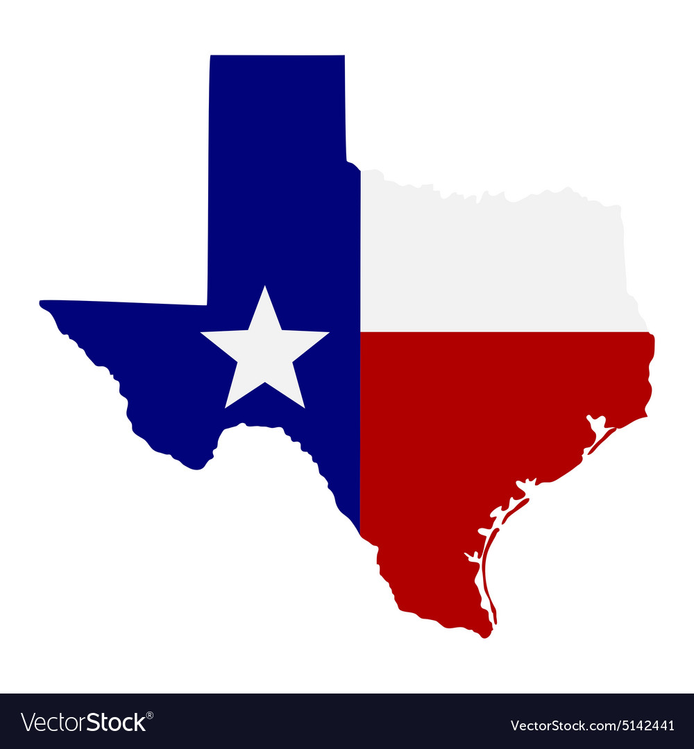 Map us state texas