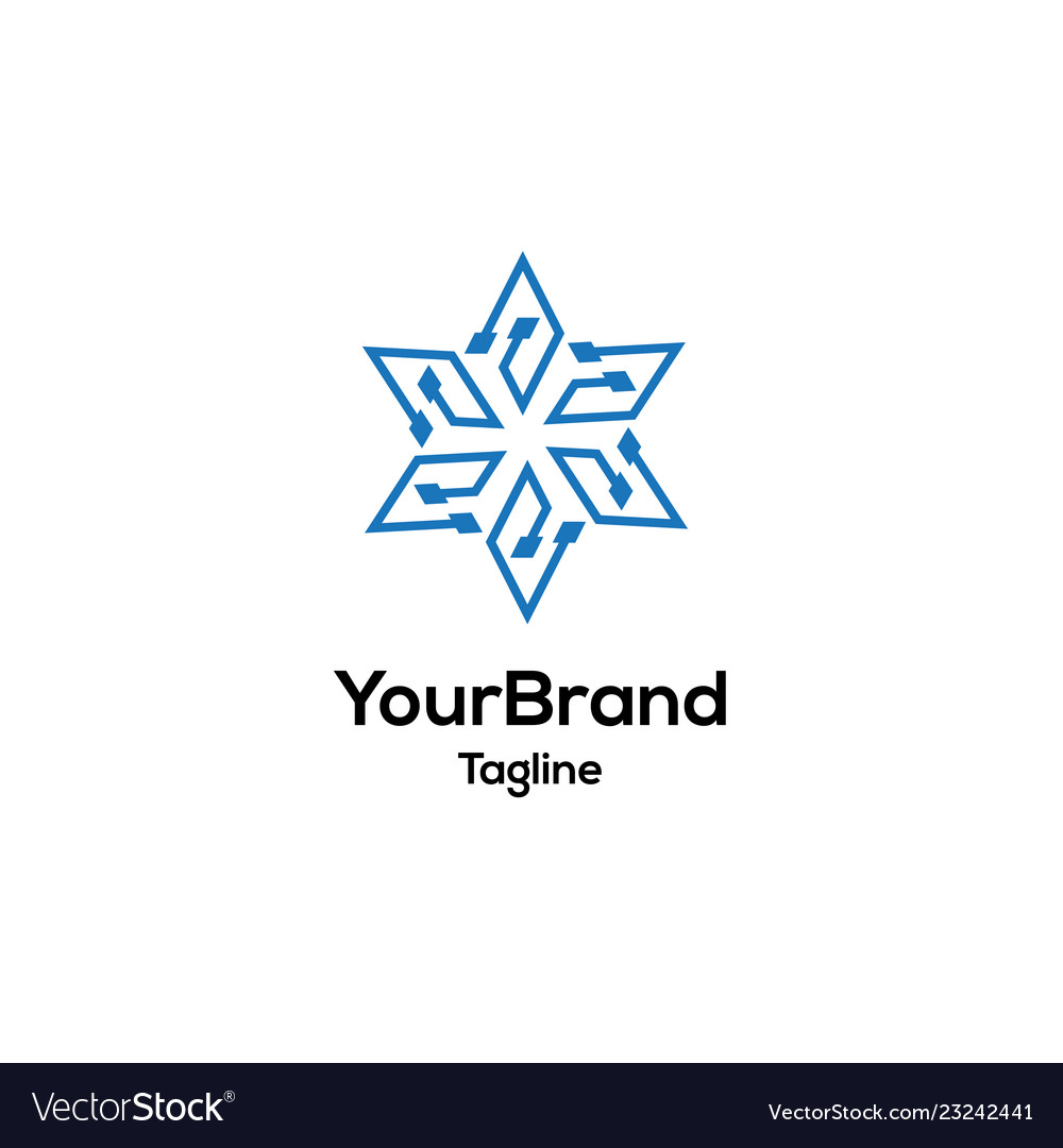 Modern e circle logo template