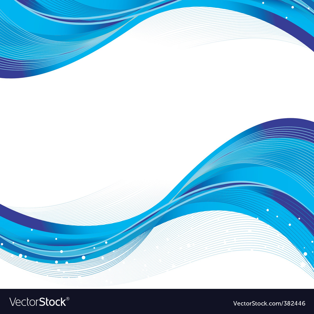 abstract blue back waves royalty free vector image rh vectorstock com wave vector png wave vector k