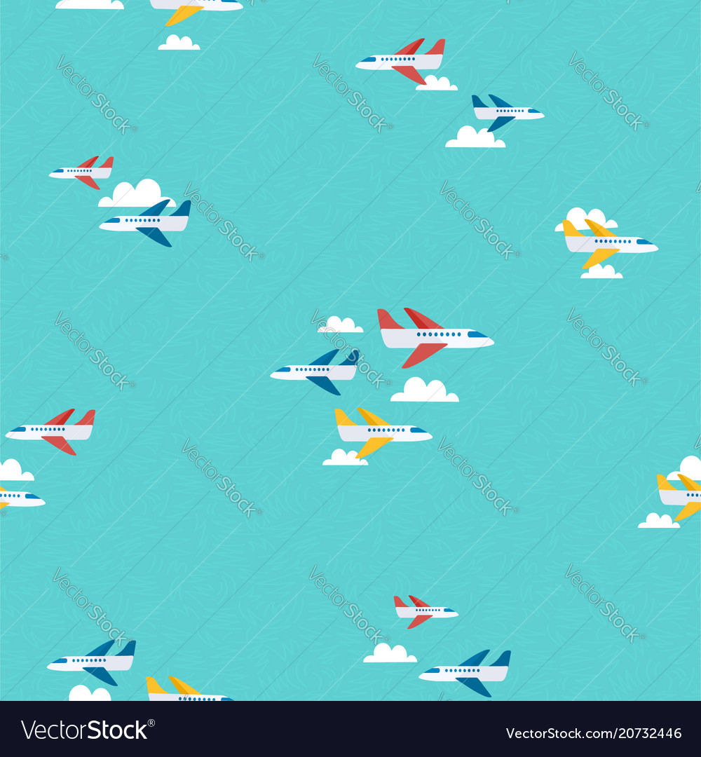 Air plane sky travel pattern background art