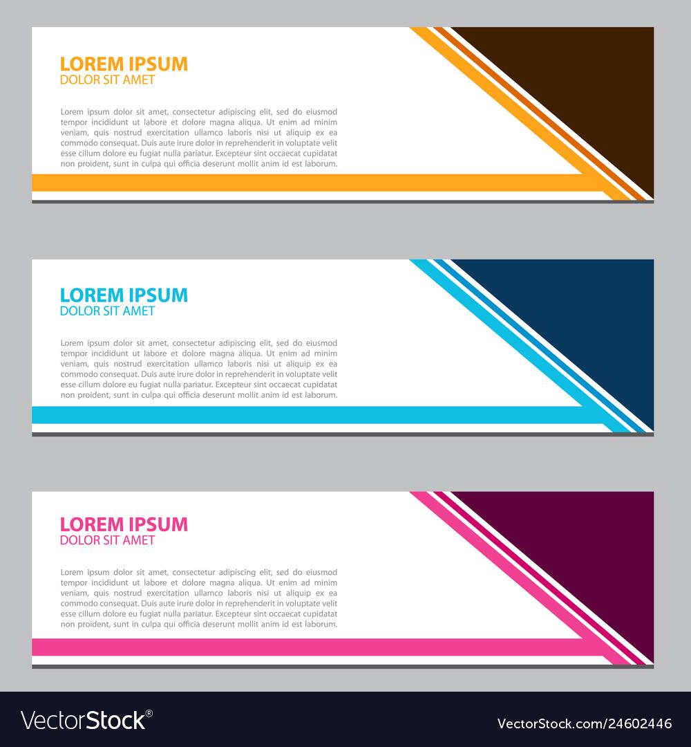 Banner design for business