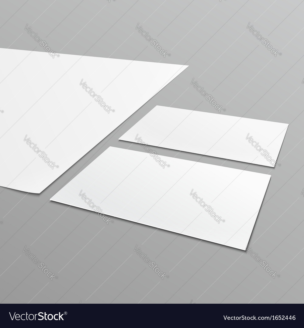 Blank stationery layout a4 paper business card vector image reheart Images
