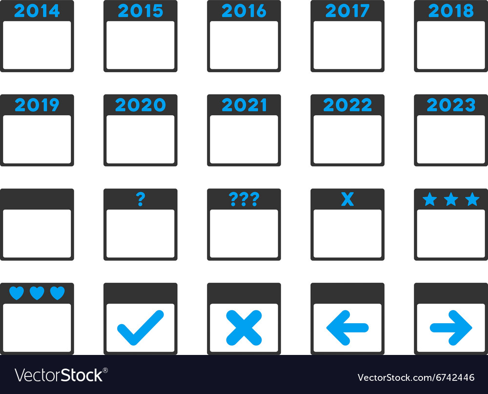 Calendar Years Icon
