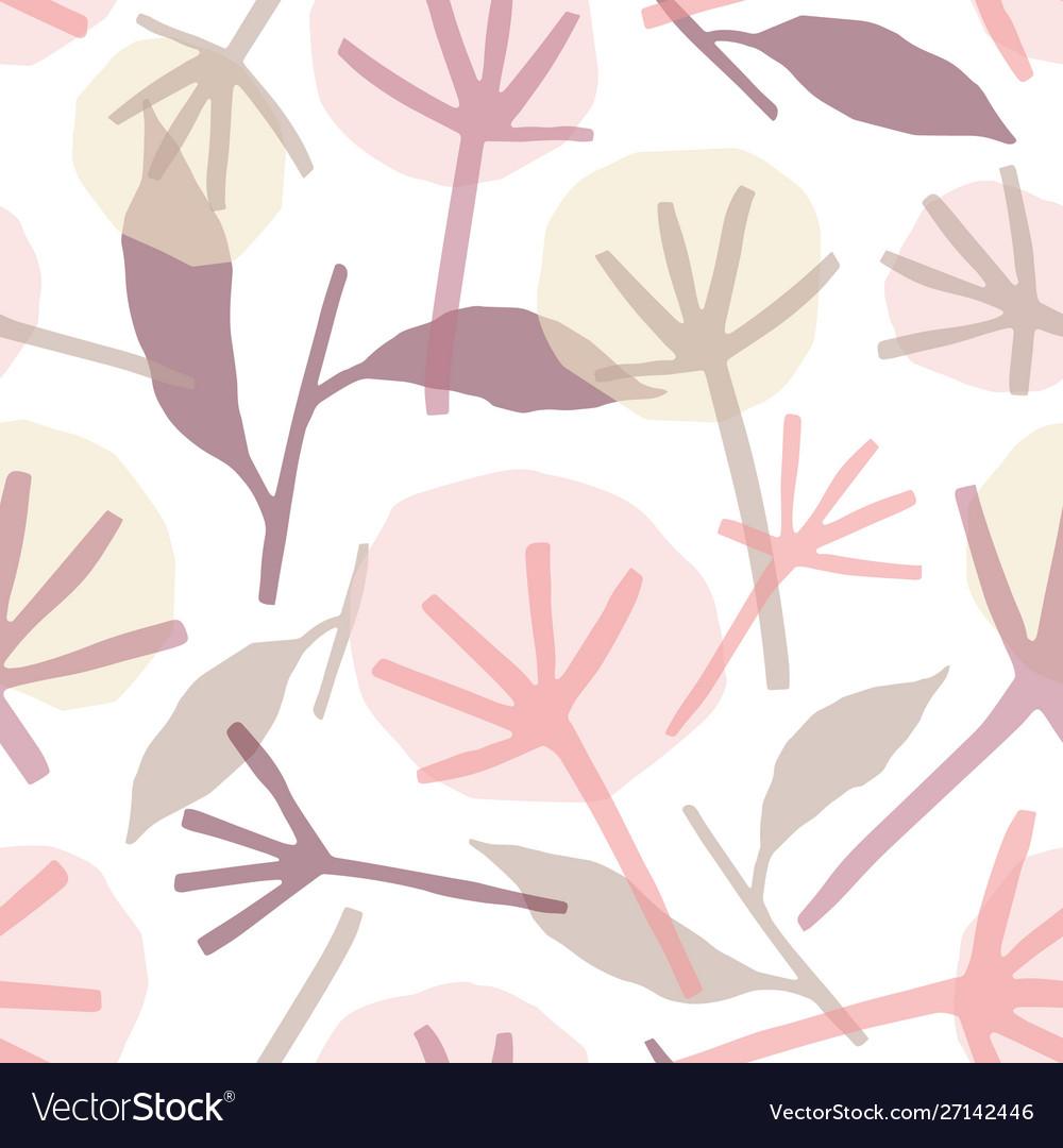 Dandelion wild flowers hand drawn seamless