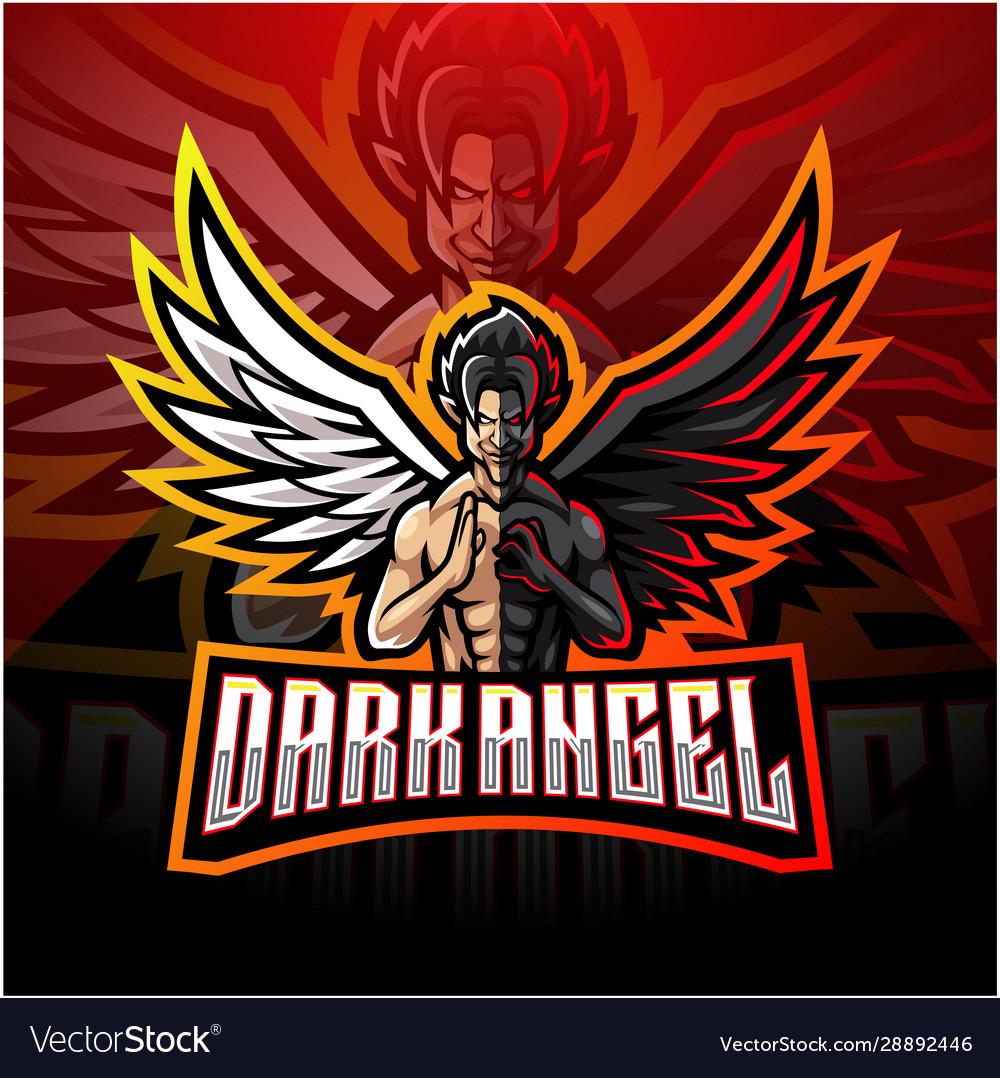 Dark angel esport mascot logo design