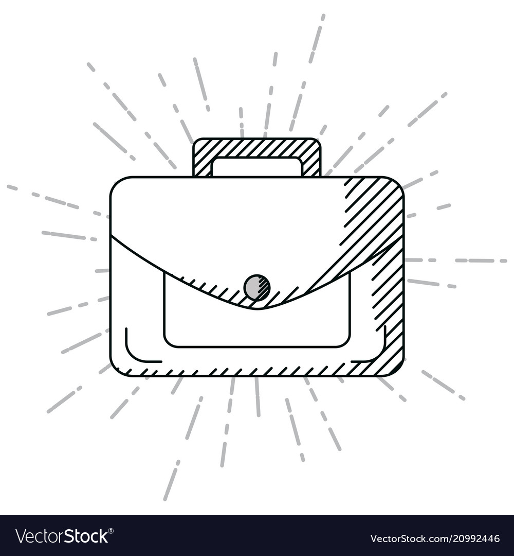 Hand draw business briefcase