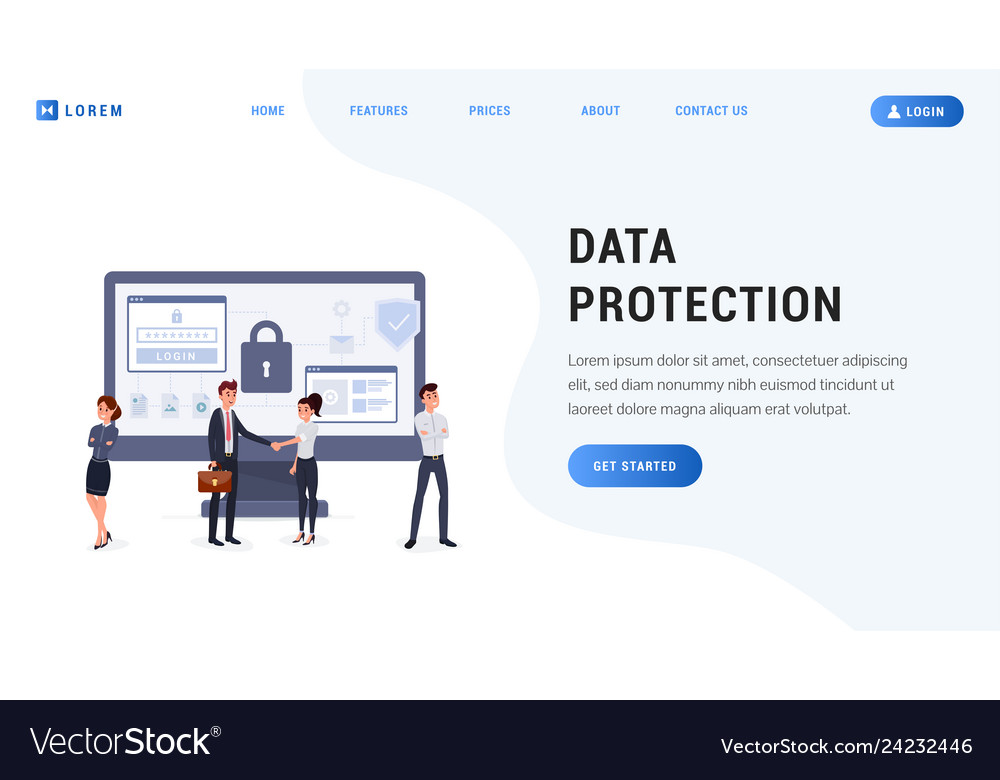 Landing page data protection