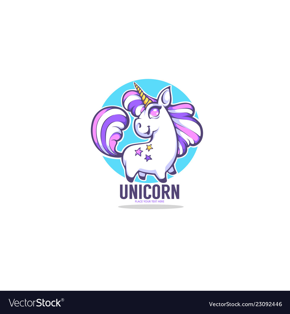 Little cute unicorn for your label