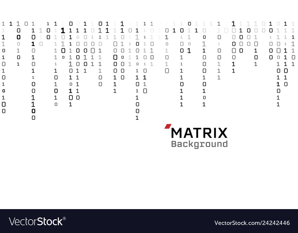 Matrix white background binary digital