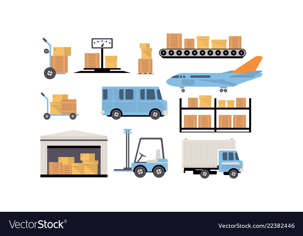 Merchandise warehouse and logistic storage