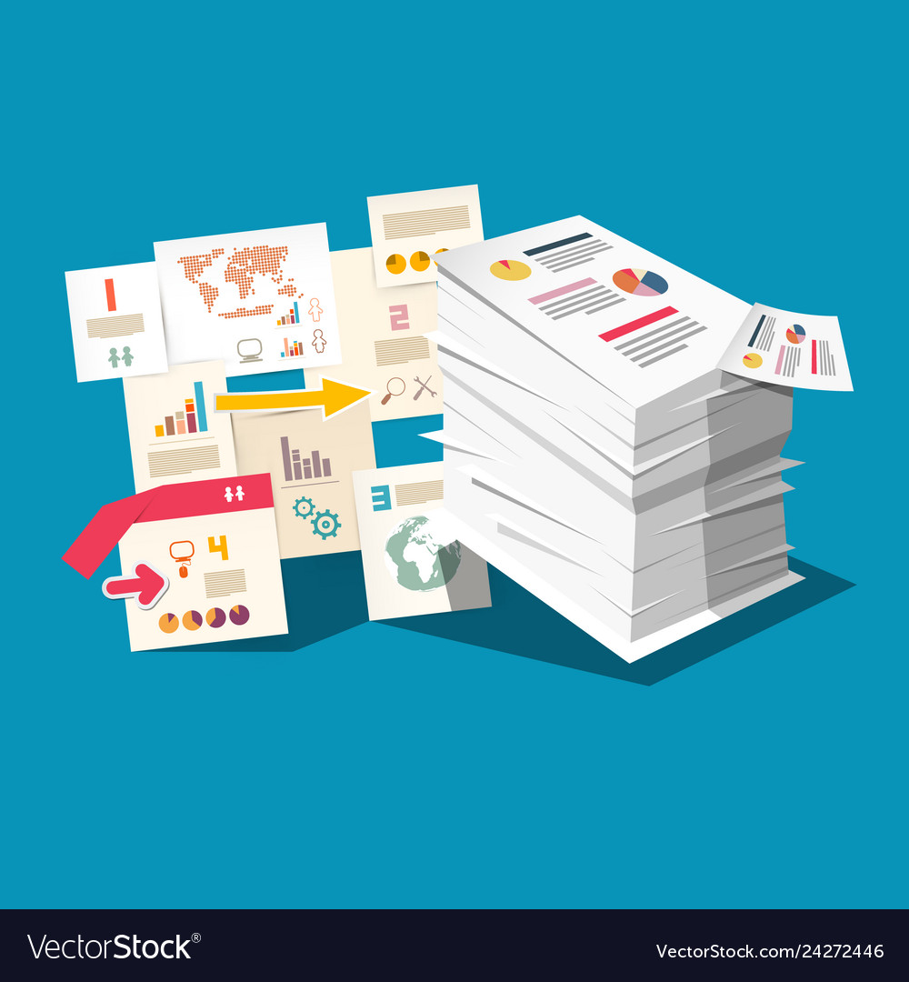 Paperwork concept with business documents and