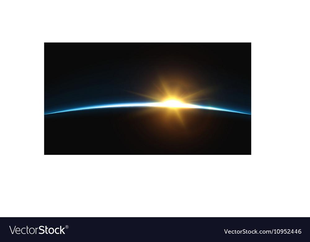 Planet earth sunrise globe horizon atmosphere