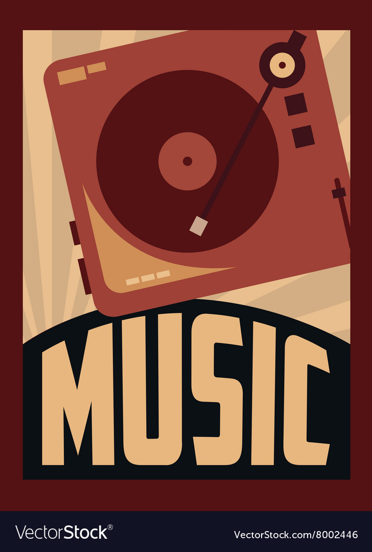 retro music poster design royalty free vector image vectorstock