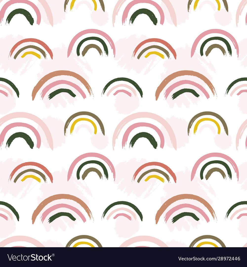 Scandinavian pattern creative barainbow print