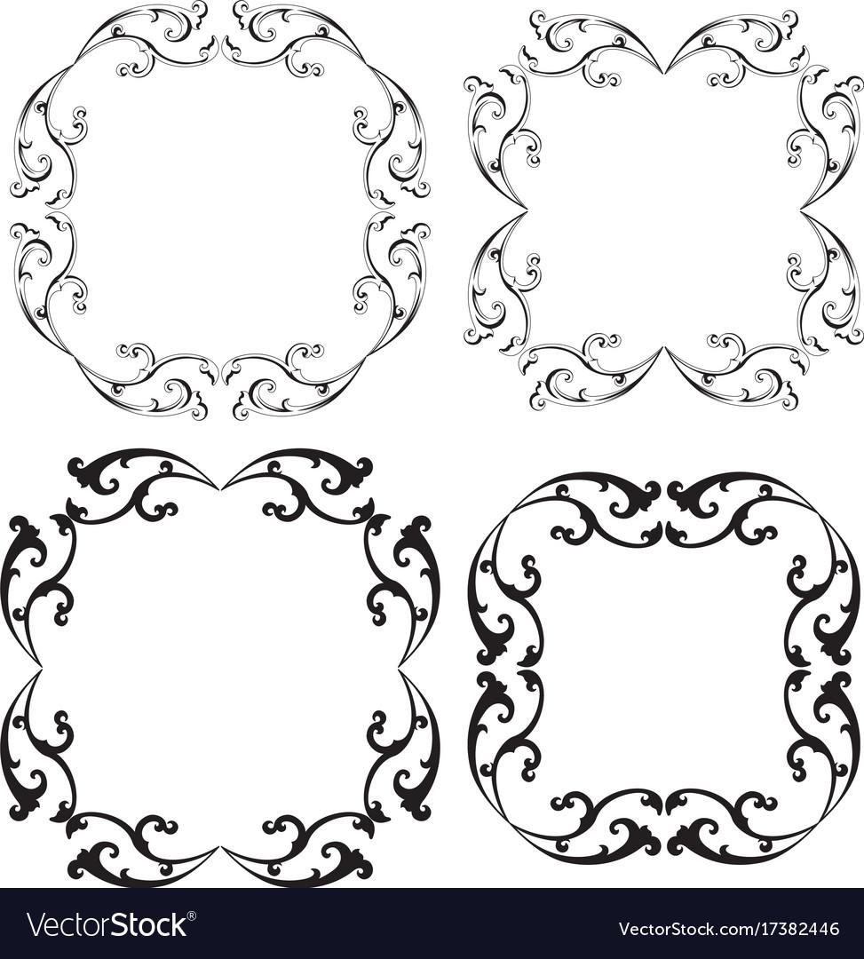 Scroll frames Royalty Free Vector Image - VectorStock