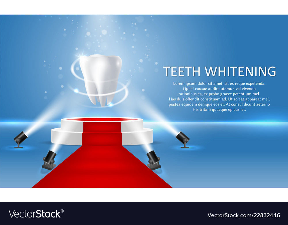 Teeth whitening poster or banner template