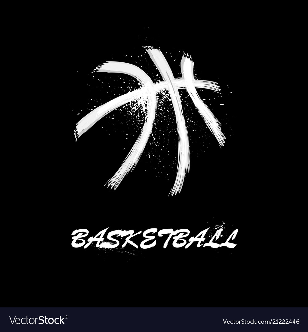 White grunge basketball