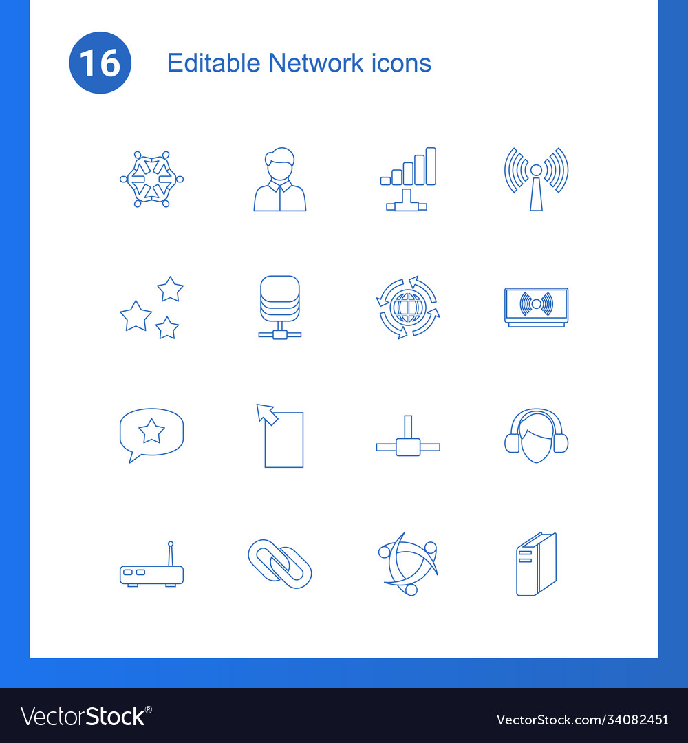 16 network icons