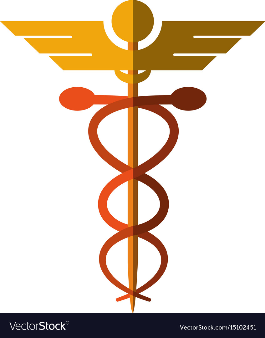 Asclepius rod icon image vector image