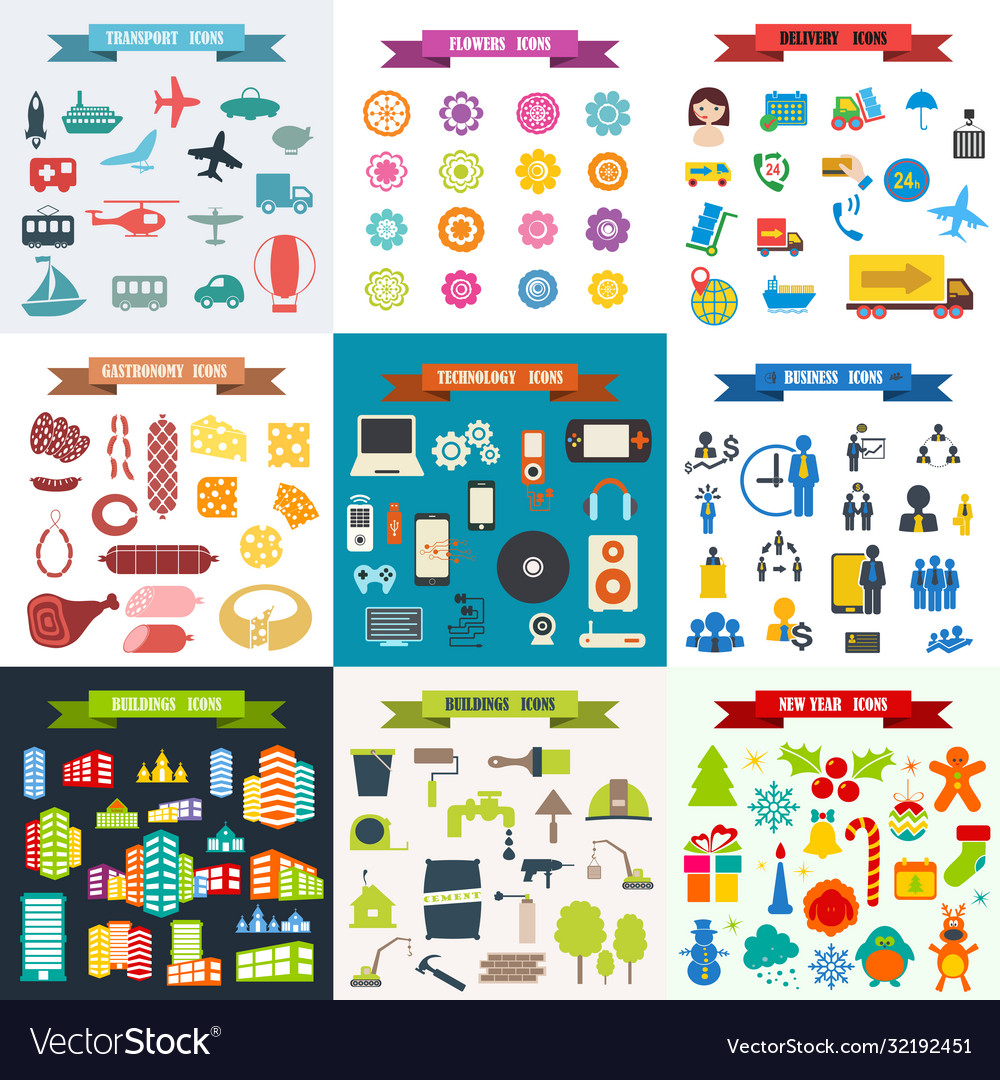 Assembly top 9 a set icons