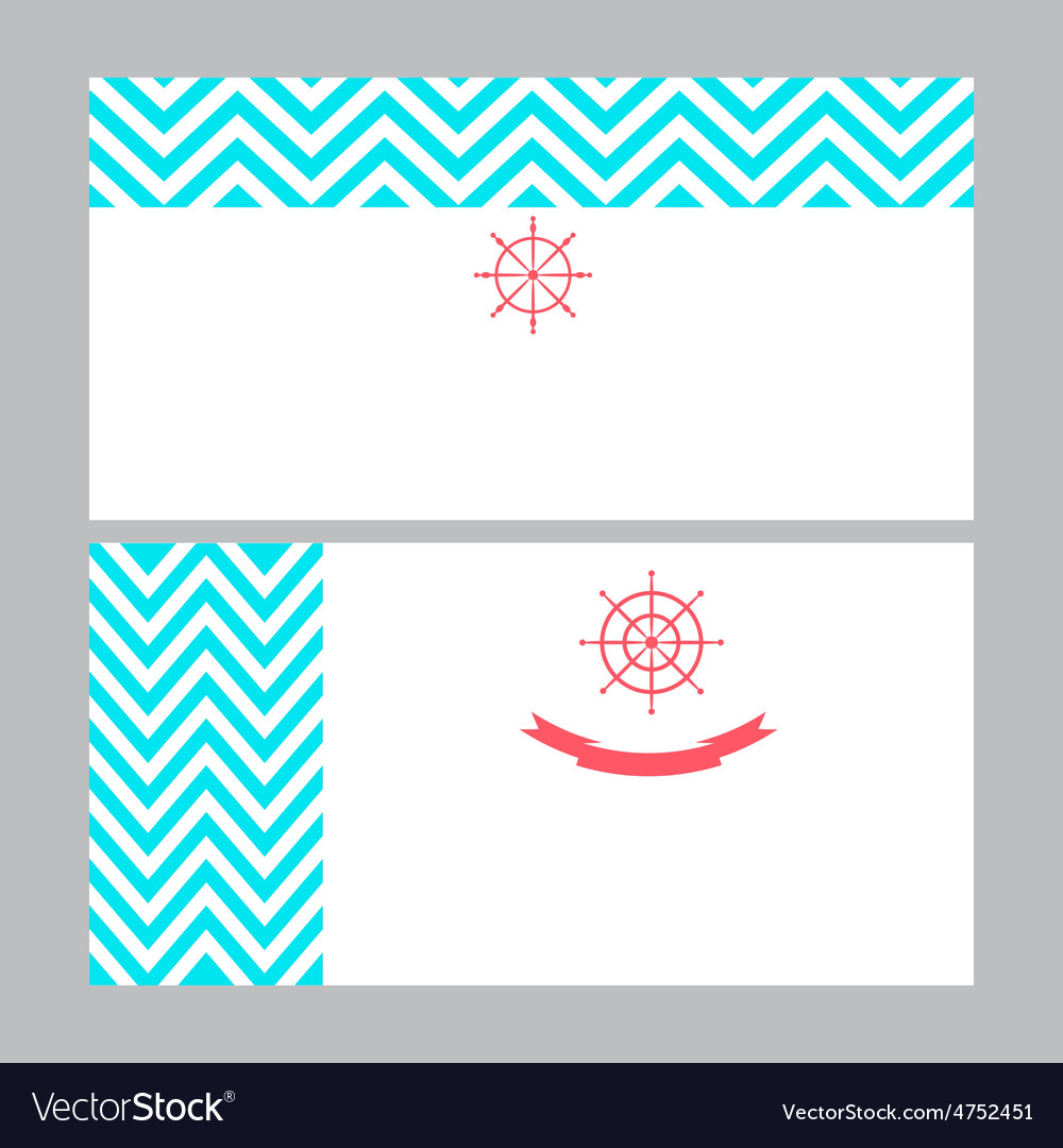 Business card template in nautical marine style Vector Image