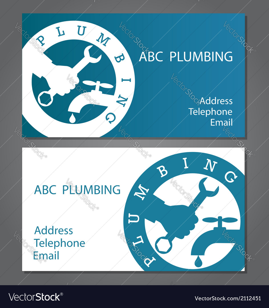 Business cards for plumbers royalty free vector image business cards for plumbers vector image colourmoves