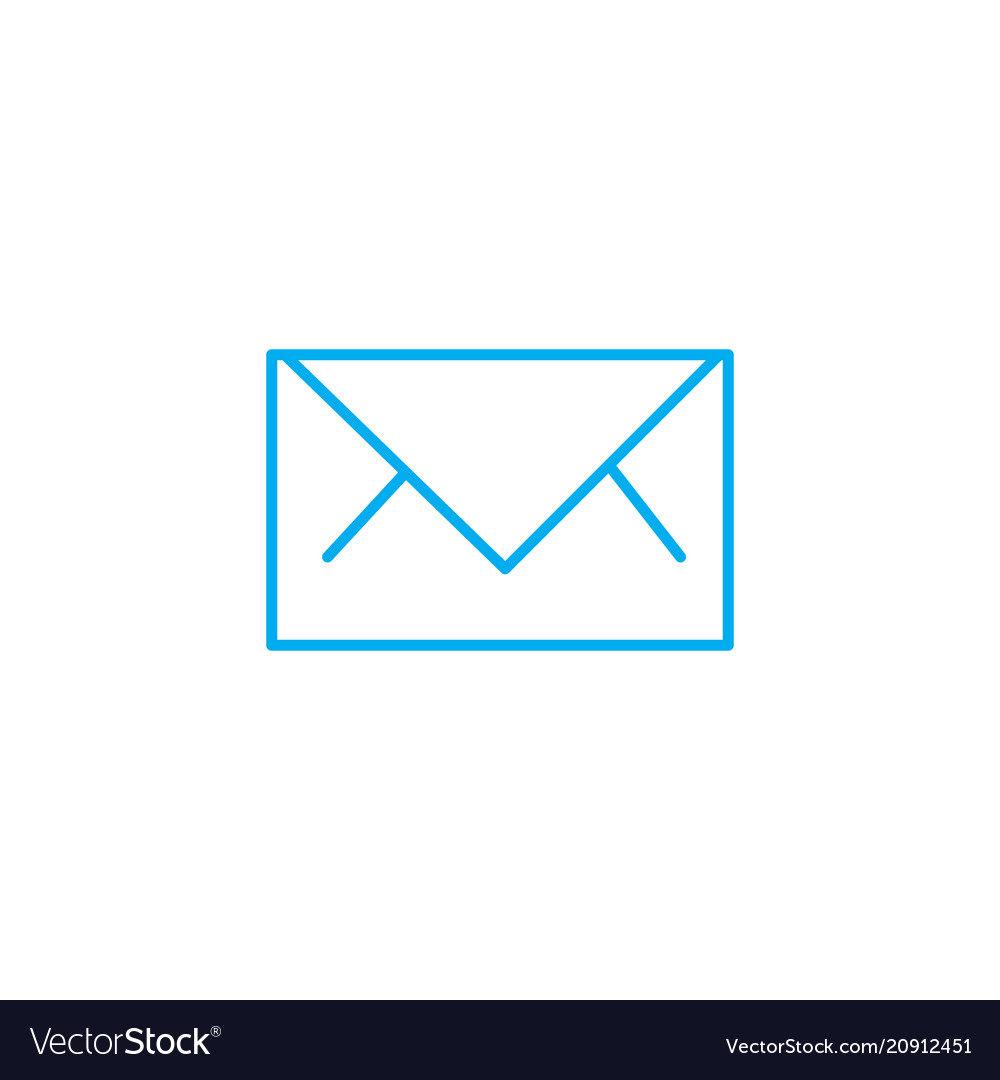 Business letter linear icon concept business