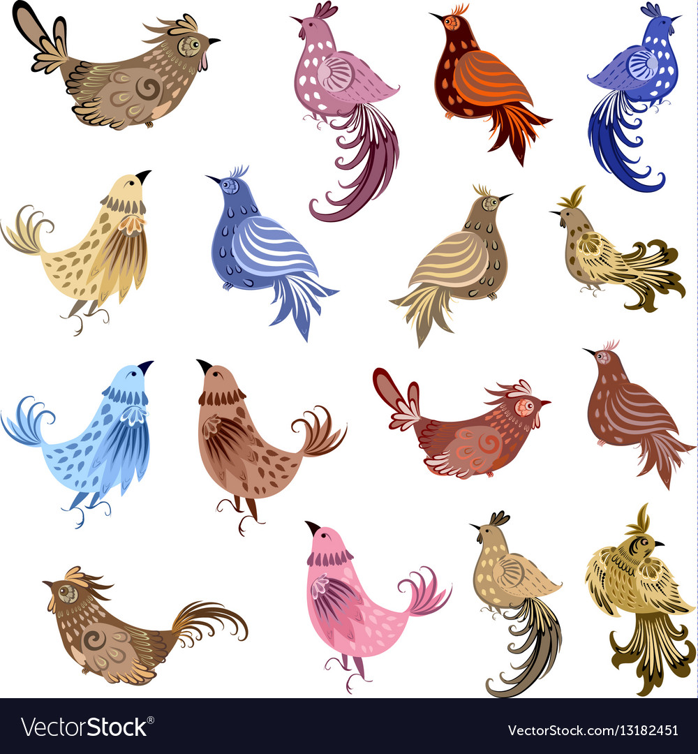 Fine collection of fancy decoration birds for your