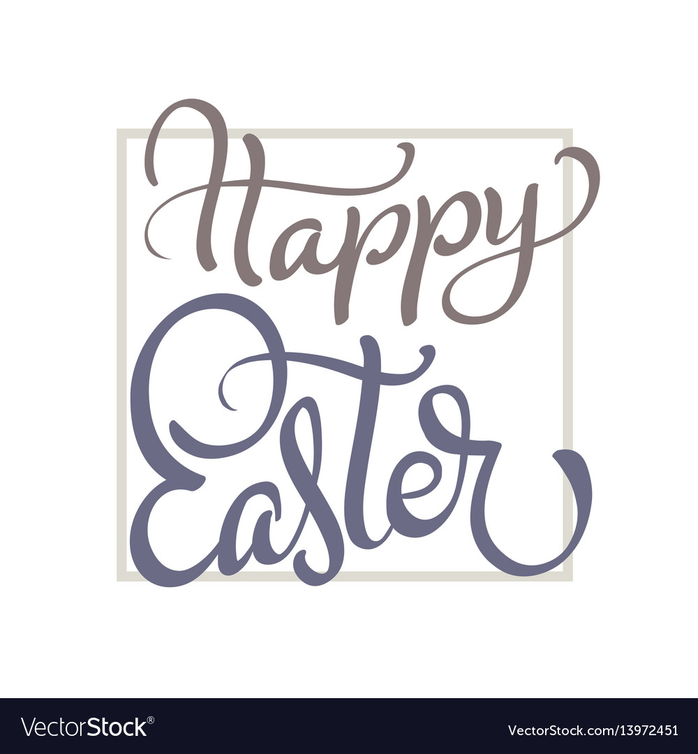 Happy easter words on white background