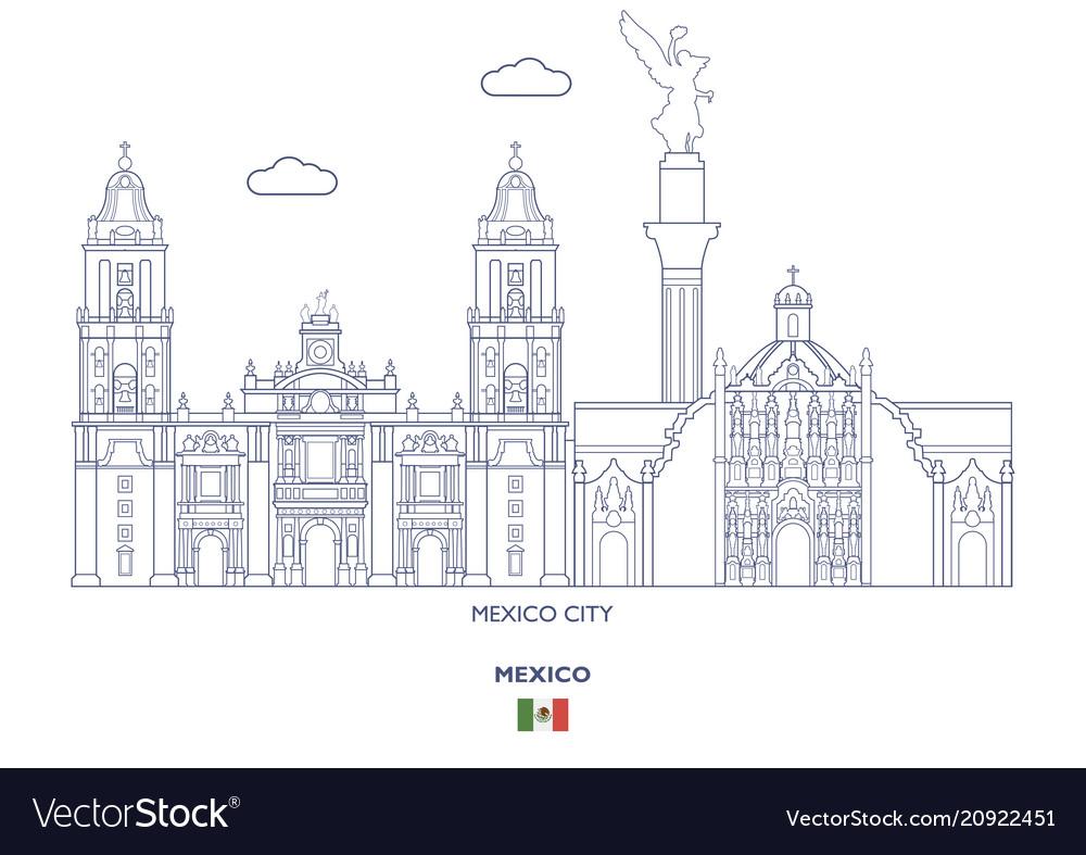 Mexico linear city skyline