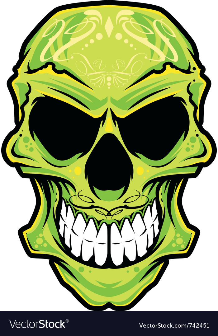 Mexico skull color vector image