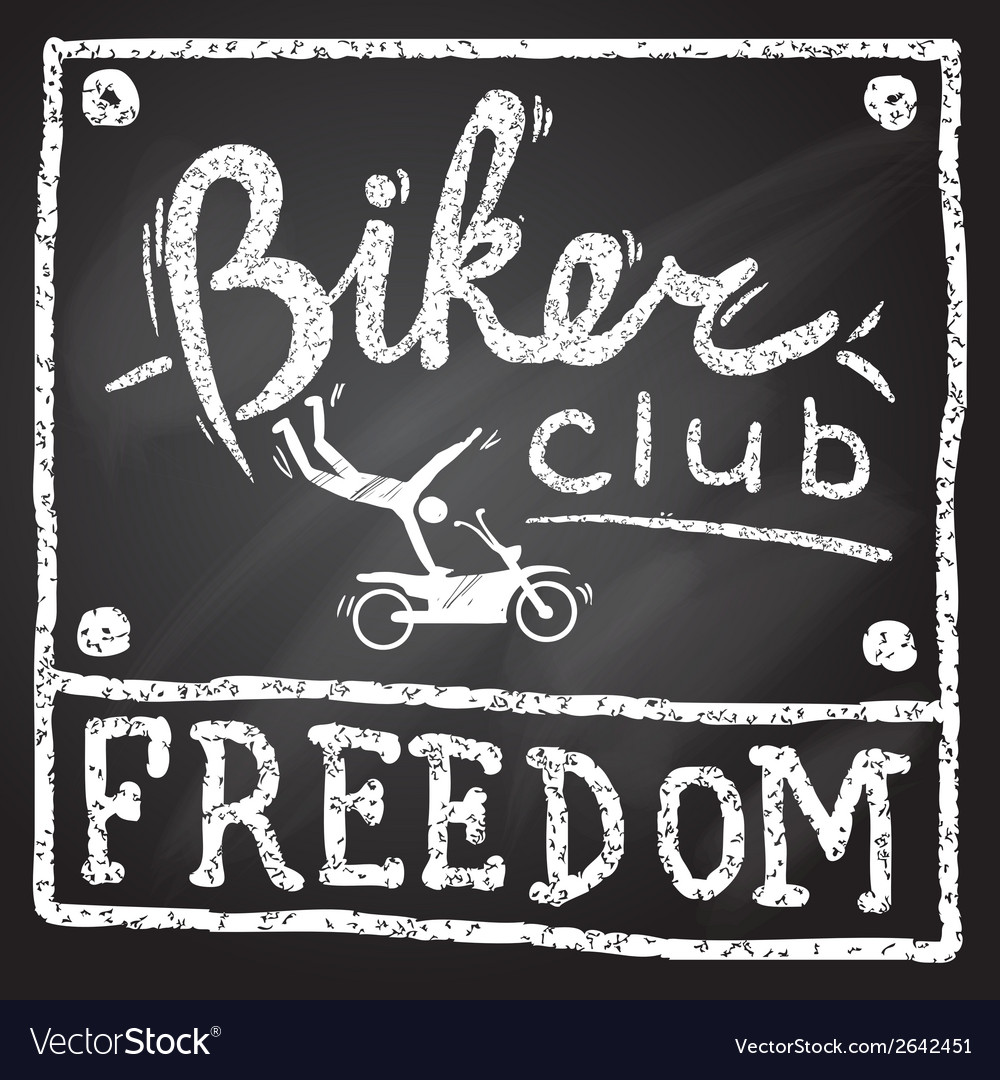 Motobikers club poster