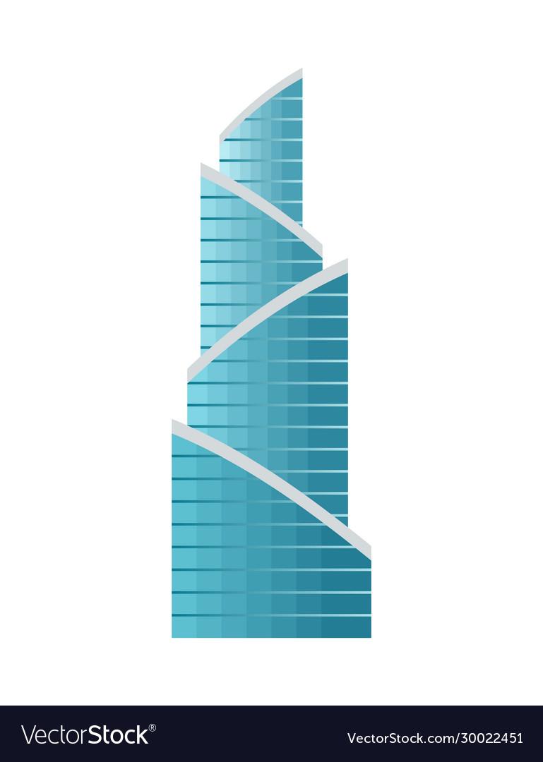 Skyscraper building modern building flat office