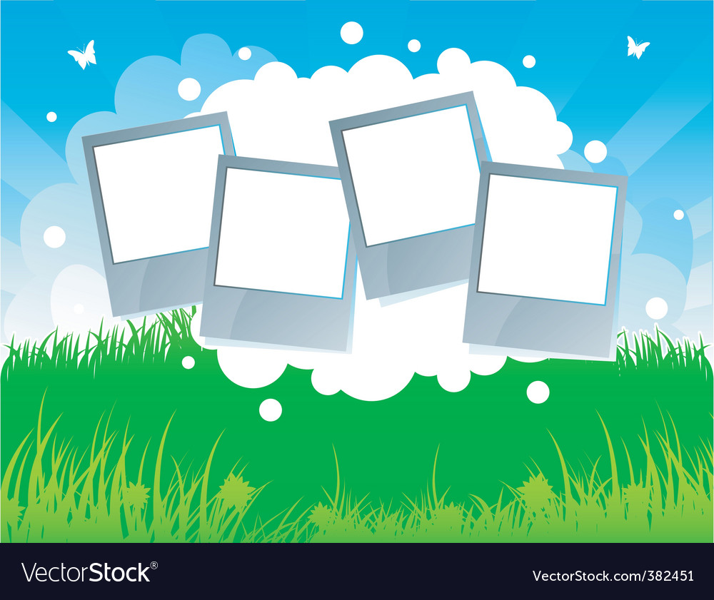 Summer background grass vector image