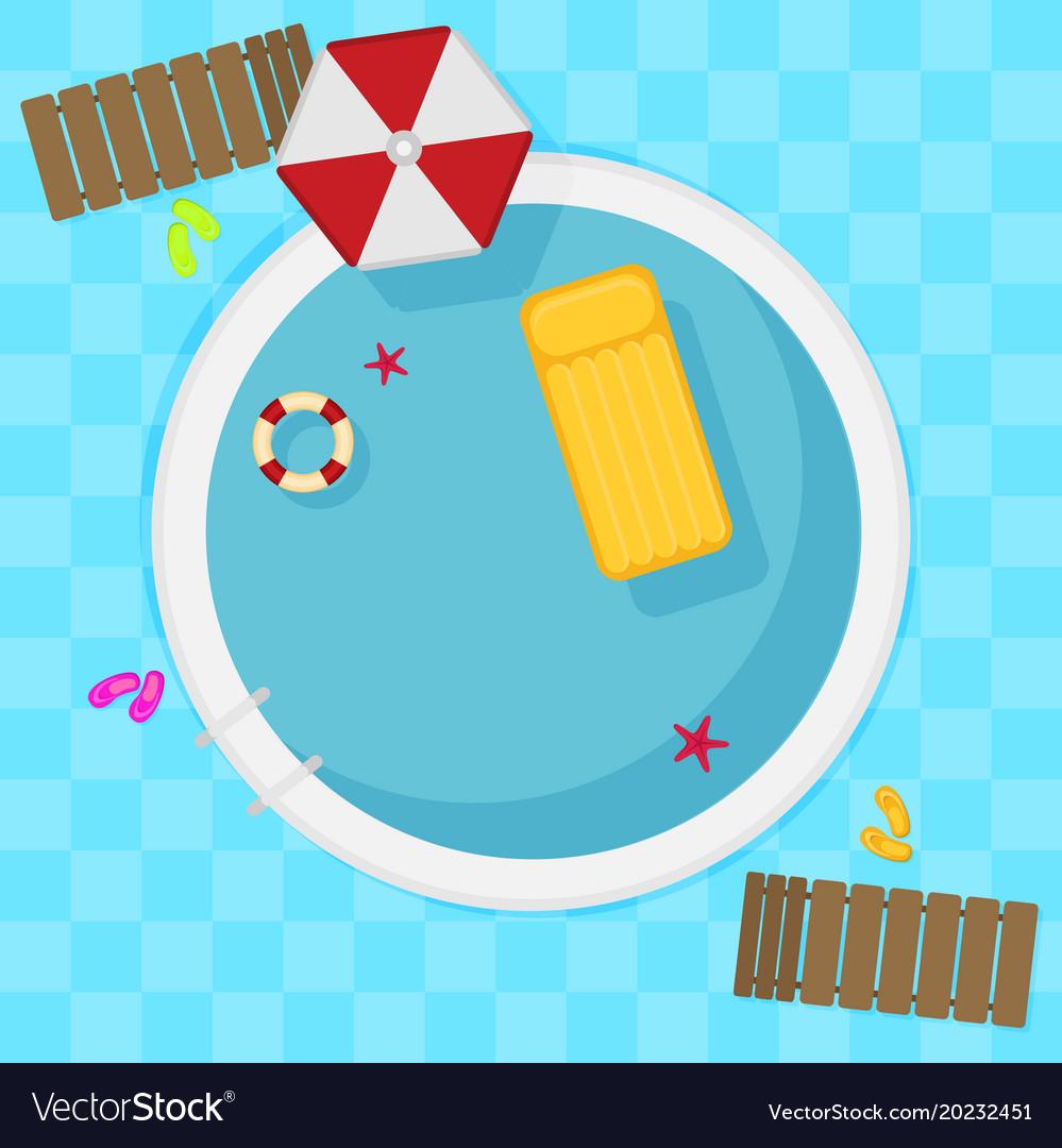 Summer pool flat design style