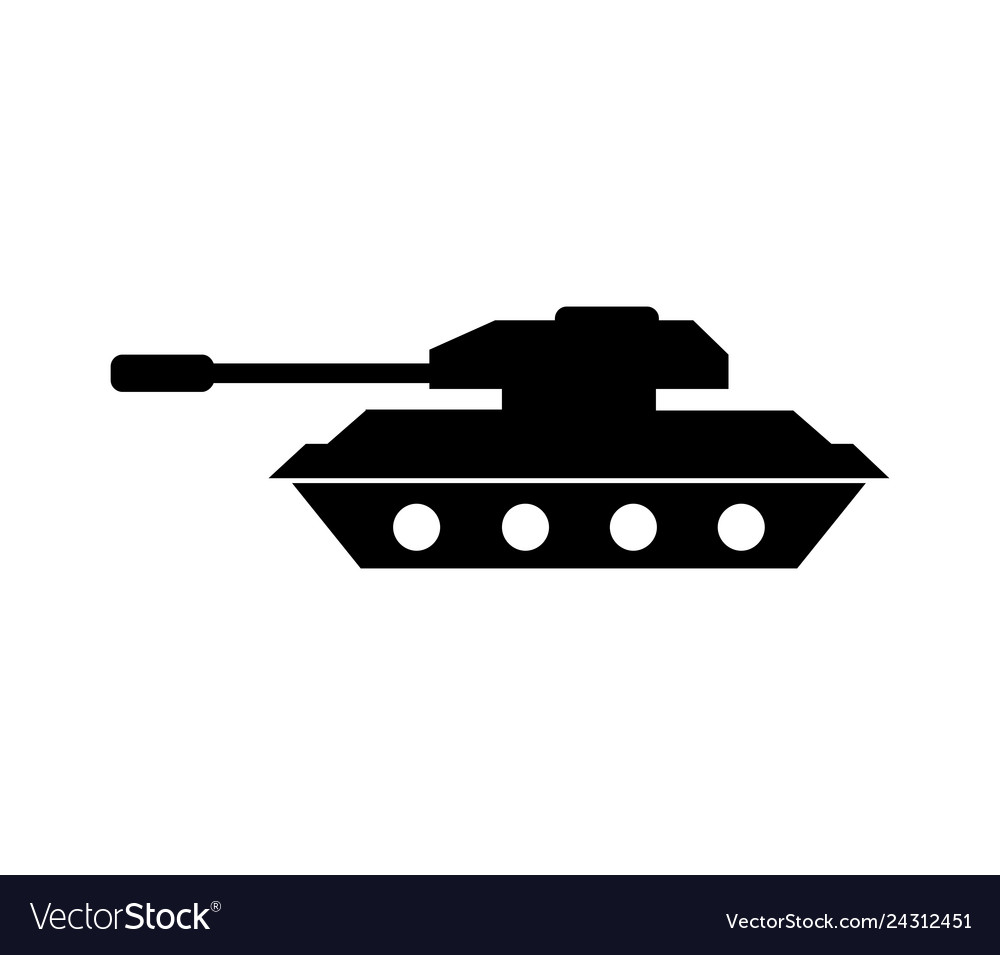 tank icon royalty free vector image vectorstock vectorstock