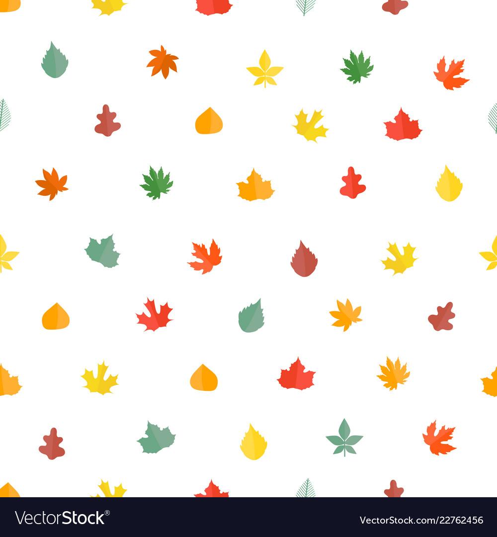 Autumn leaves seamless pattern stylish background