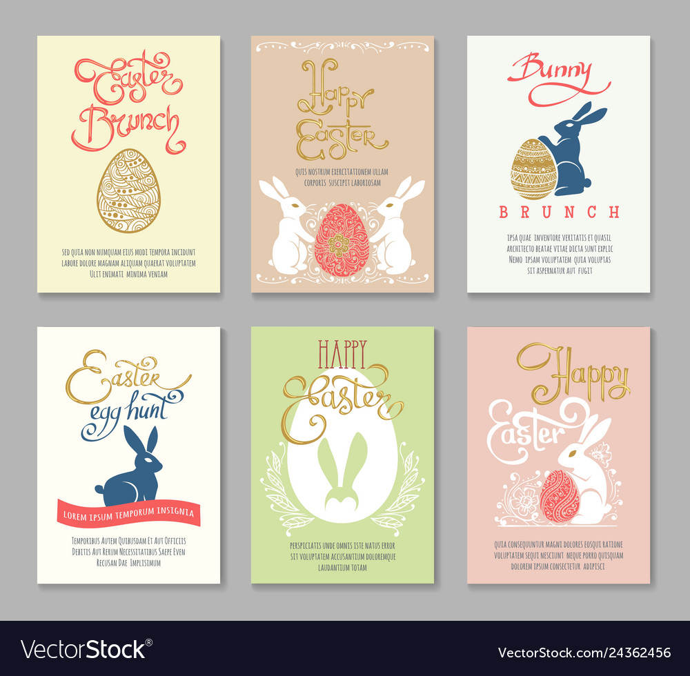 Easter postcard templates